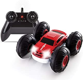 Sharper Image Remote Control RC Cars Flip Stunt Rally Car Toy for Kids, 49 MHz, 2-in-1 Reversible...