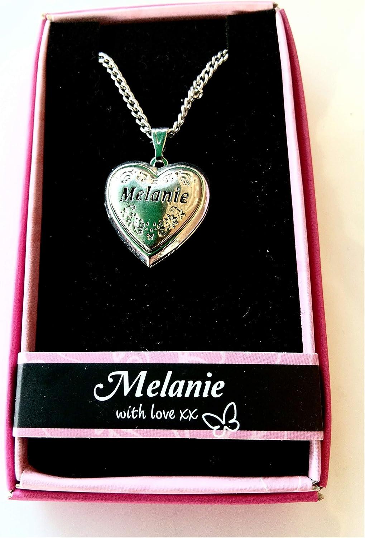 Love Locket Necklace,with 16-18 inch Adjustable Chain. Melanie