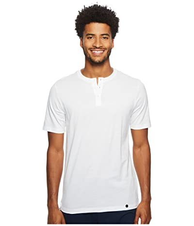 Hanro Night Day Short Sleeve Henley Shirt (White) Men