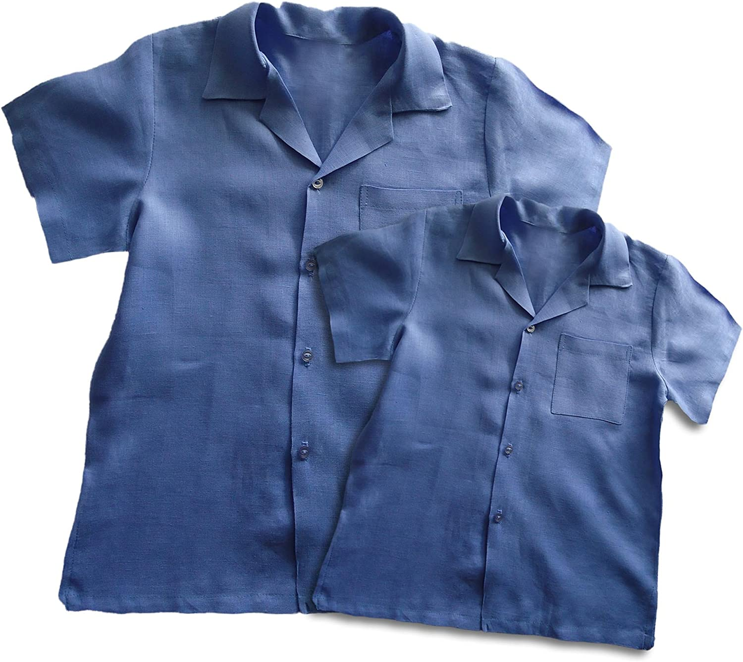 Aby's Kids Father and Son Matching Linen Shirts