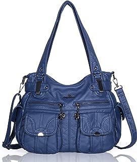 1fb011406c Angelkiss 2 fermetures à glissière supérieures sacs à main multi poches sacs  à main en cuir