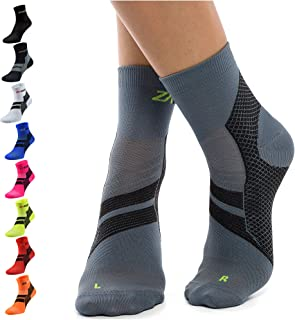 ZaTech Plantar Fasciitis Socks, Ankle Compression & Arch Support Socks, Seamless