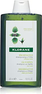Klorane Shampoo with Nettle for Oily Hair and Scalp, Helps Regulate Oil Production, Paraben, Silicone, SLS Free