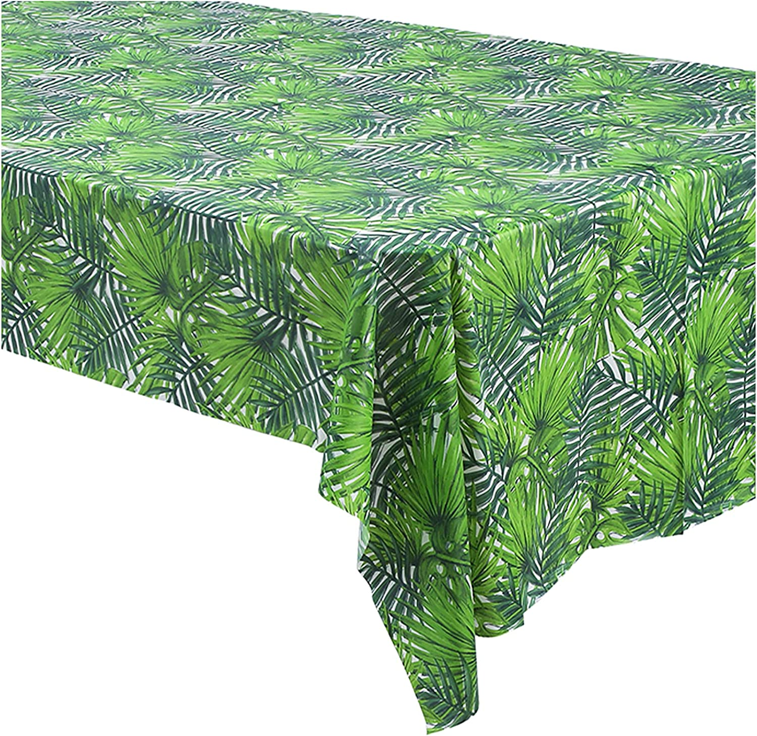Summer Luau Max 81% OFF Green Palm wholesale Leaf Tablecloth Hawaii for Jungle 3 Pack