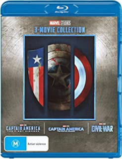 Captain America 3 Film Collection Captain America: The First Avenger/Captain America: The Winter Soldier/Captain America: Civil War