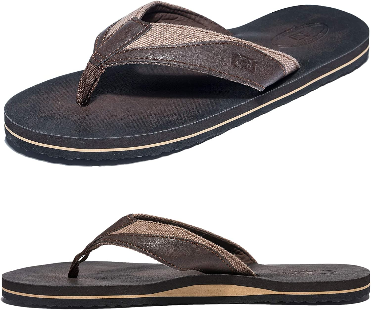 Tampa Mall Anbenser Mens Flip Flop Thong Sandals for Su Wide Width Max 49% OFF Arch Men