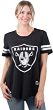 Ultra Game NFL Women's Soft Mesh Jersey Varsity Tee Shirt