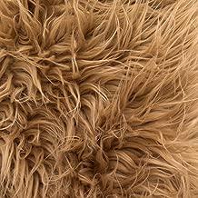 Faux Fake Fur Dark Camel Mongolian 60 Inch Fabric by the Yard (F.E.®)