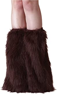 Fun Costumes Adult Brown Furry Polyester Boot Covers