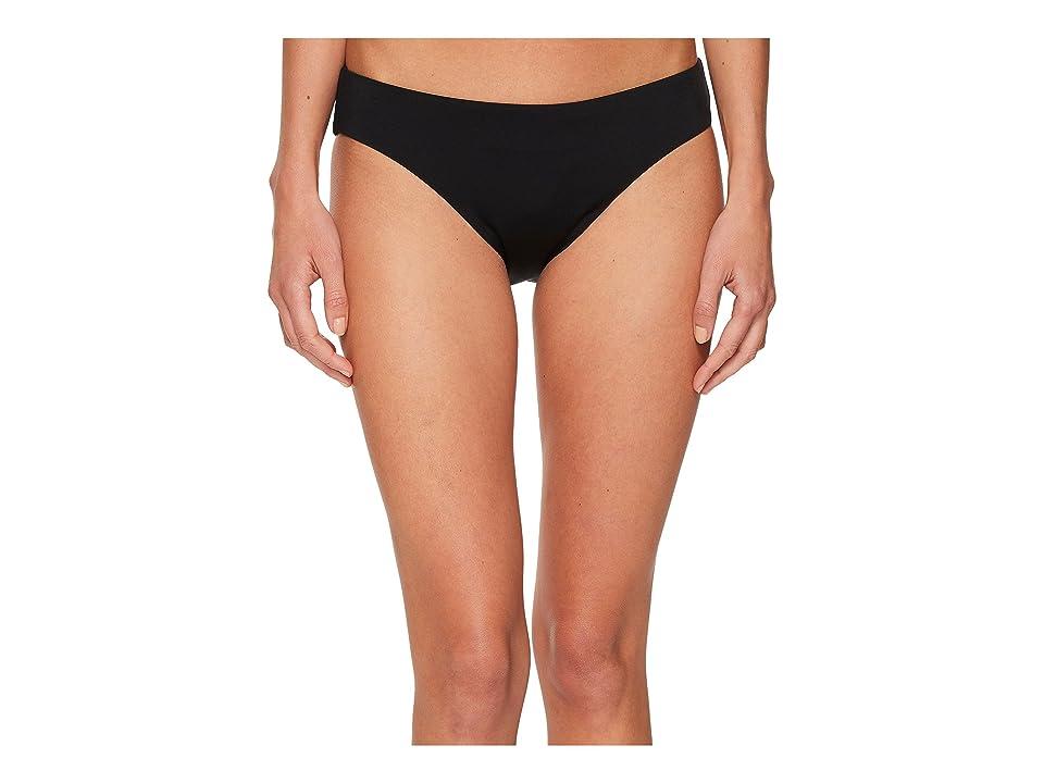 Laundry by Shelli Segal Solid Basic Bikini Bottom (Black) Women