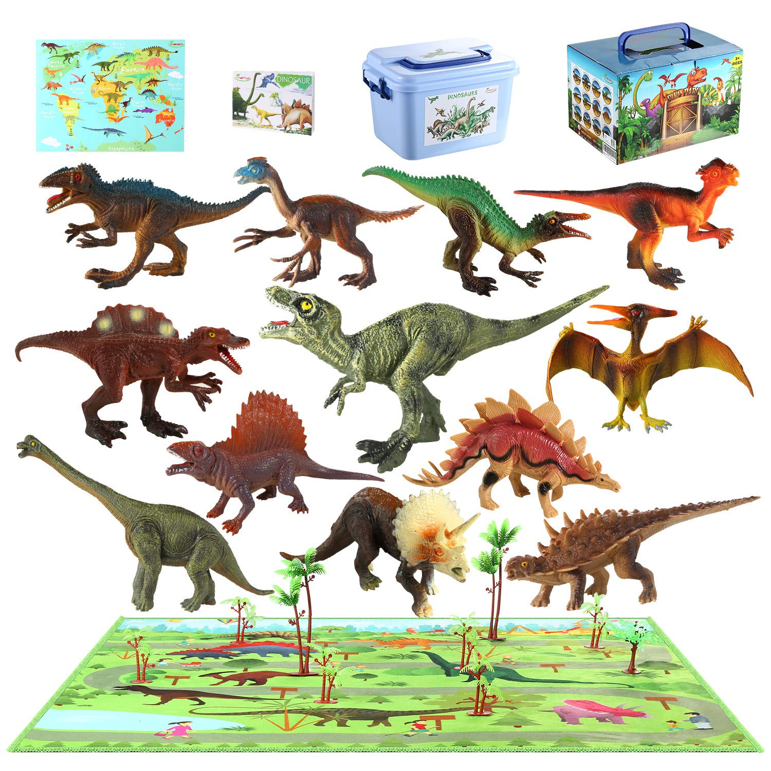 Birthday Present,Dinosaur Party Toy Sdgebd 7 to 10 Educational Dinosaur Toys,Realistic Educational Toy Jurassic Dinosaur Figures for Kids,Great Gift Set and Toddler Dinosaur Gift! 6 Pieces