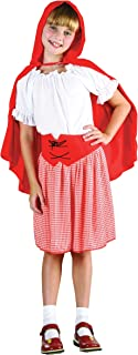 Bristol Novelty CC457 Riding Hood Costume, Red/White, Small, Approx Age 3 -5 Years, Red Riding Hood (S)