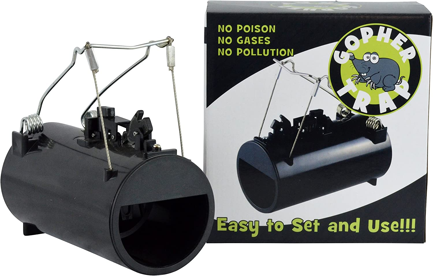 Southern Homewares Black Hole Gopher Rodent Trap Pest Control Re