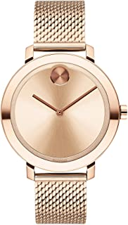 Women's Swiss Quartz Watch with Stainless Steel Strap, Rose Gold, 15 (Model: 3600654)