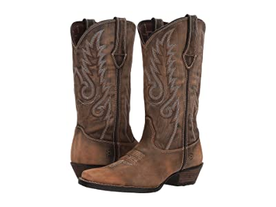 Durango Dream Catcher 12 Fancy Stitch (Distressed Brown/Tan) Cowboy Boots