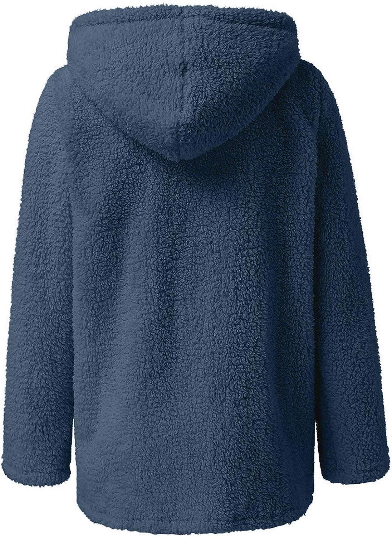 Xinantime Women Short Sherpa Jacket Plush Warm Coat Lapel Zipper Cardigan Ladies Solid Color Fuzzy Fleece Coat Outwear Tunic