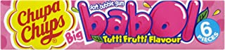 Chupa Chups 20 rolls Babol Tutti Frutti Bubble Gum (pack of 4, total of 80 rolls)