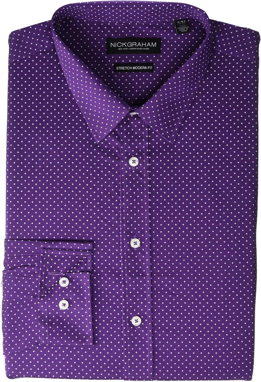 Nick Graham Pin Dot CVC Stretch Dress Shirt