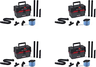 Ridgid 50318 4500RV ProPack Wet/Dry Vacuum, 4.5 gal, Red (Pack of 4)
