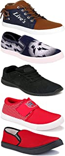 WORLD WEAR FOOTWEAR Sports Running Shoes/Casual/Sneakers/Loafers Shoes for Men Multicolor (Combo-(5)-1219-1221-1140-689-678)
