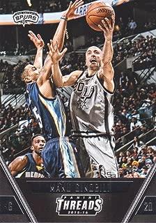 2015-16 Panini Threads Basketball #64 Manu Ginobili San Antonio Spurs