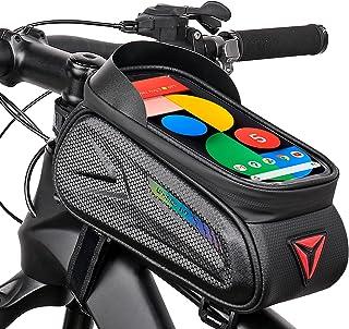 Bolsas de Bicicleta, Bolsa Impermeable para Bicicleta con Pantalla Táctil, Bolsa para Cuadro Bicicleta Montaña, Bolsa Táct...