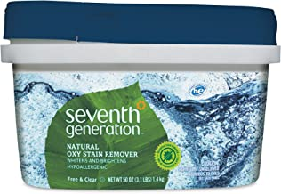 Seventh Generation Natural Oxy Stain Remover, 50 Ounce, Packaging May Vary
