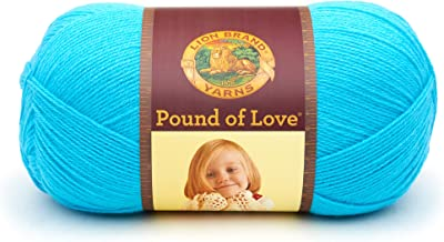 Lion Brand Turquoise Yarn Pound of Love