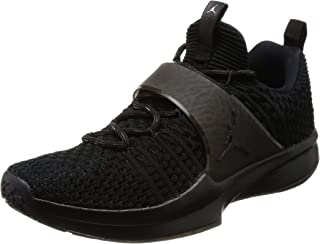 wholesale dealer 1d025 3c4cb Nike Jordan Men s Trainer 2 Flyknit, Black Black-Metallic Silver ...