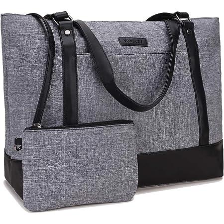 Women Laptop Tote Bag for Work Canvas Handbag Purse Shoulder Bag Lightweight Canvas Laptop Bag for 15.6 Inch