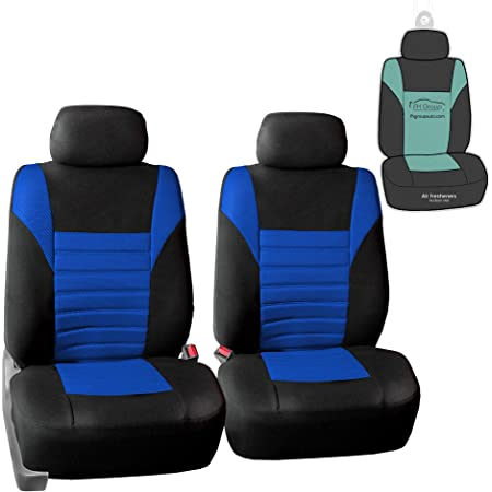 CLOHOMIN Galaxy Wolf Car Front Bucket Seat Cover+Streering Wheel Covers+Center Console Cushion+Seats Belt Pads 6PCS Cars Protector Universa Gifts