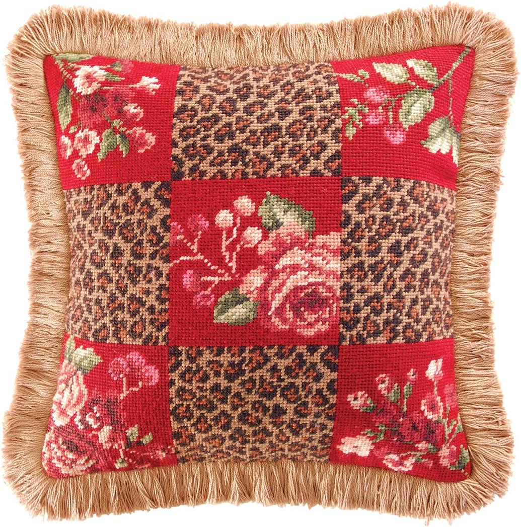 CF Home Savannah Check Direct store Seattle Mall Needlepoint Pillow for Decorative Throw