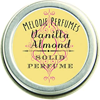 Melodie Perfumes Vanilla Almond solid perfume for women. Vegan Essential oil natural women's fragrance.50 tin