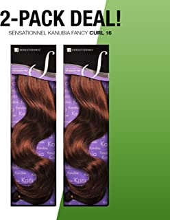 2-PACK DEALS ! Synthetic Hair Weave Sensationnel Kanubia Fancy Curl 16 (350)