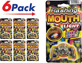 Flashing Mouth Piece (Pack of 6) by 2GoodShop | Light Up Mouthpiece Party Fun | Item #5064-6