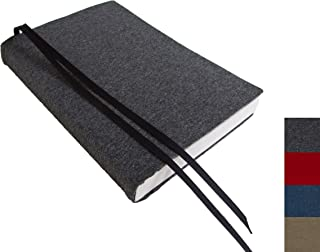 6 Inch Trade Size Paperback Book Cover 6x9 to 5.5 x 8.5, SOLID COLORS Stretch Fabric Book Cover, Small Book Covers for Paperbacks or Hardcover Books and Journals, Red Blue Brown Grey