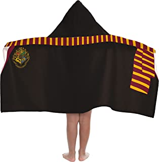 Jay Franco Warner Bros. Harry Potter Hooded Bath/Pool/Beach Towel, Black