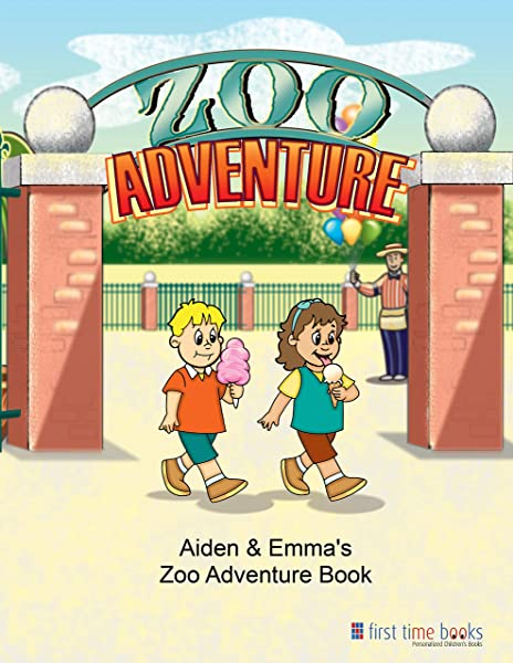 Personalized Children S Zoo Adventure Book With Customized Kid S Name Hair Color Gender And More First Time Books