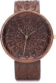 Reloj Madera Hombre Grabado, Caja de Madera Natural, Reloj Ligero y Elegante, Madera De Nogal, Ovi Watch