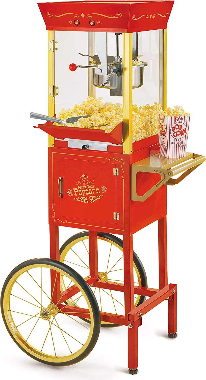 NOSTALGIA Baltimore Seattle Mall Mall Concession CCP510 Vintage Popcorn Professional Cart-Ne