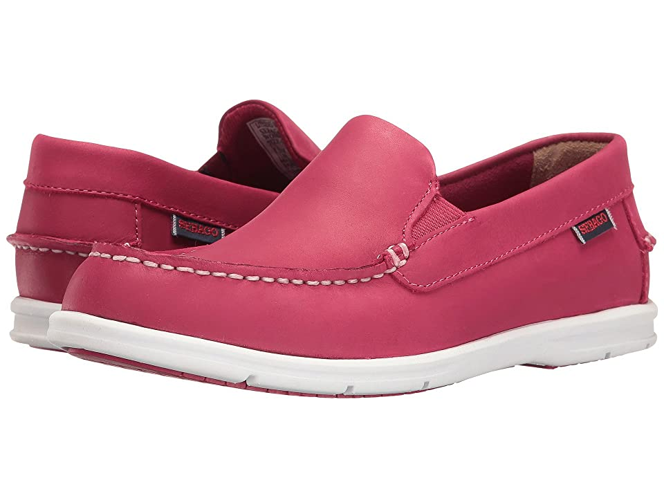 Sebago Liteside Slip-On (Dark Pink Leather) Women