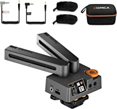 Comica Traxshot Super-Cardioid Transformable Directional Shotgun Video Microphone for Canon Sony DSLR Camera/Smartphone,Professional Stereo Microphone for Youtube Recording Interview Vlog(3.5mm Jack)