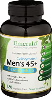 Men's 45+ 4-Daily Multi - Multivitamin with CoQ10, Saw Palmetto & Extra Lycopene - Supports Heart Health, Energy Boost, Im...