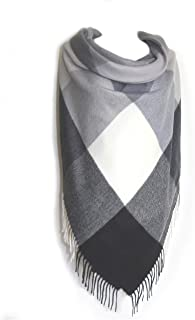 Cashmere Plaid Blanket Scarf Women Winter Warm Wool Tartan Shawls and Wraps