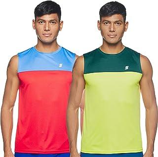 Amazon Brand - Symactive Men's Solid Regular Fit Sleeveless Sports T-Shirt