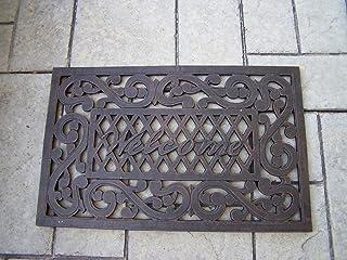Oakland Living Welcome Cast Aluminum Doormat, Antique Bronze