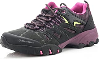 Women's Suede Slip-Resistant Hiking Shoes Walking Sneakers Outdoor Trail Trekking Shoes