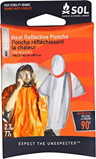 S.O.L. Survive Outdoors Longer Heat Reflective Poncho