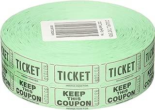 Raffle Tickets 2000 per Roll 50/50: Green