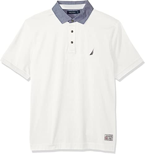 Nautica Hommes's Classic Fit Cotton Jersey Solid Polo Shirt, MarshmalFaible, XX-grand